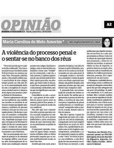 Artigo da advogada Maria Carolina Amorim para o Diário de Pernambuco